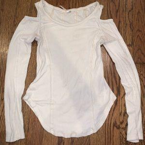 Cream peep shoulder free people shirt